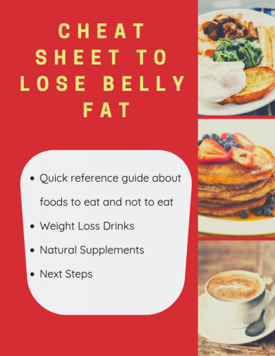 Cheat Sheet To Lose Belly Fat - graphic