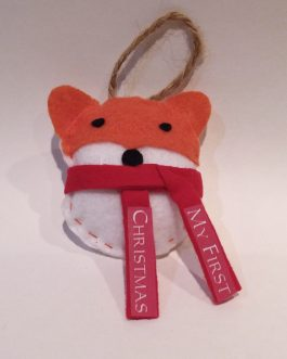"""My First Christmas"" Ornament Fox"