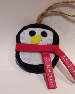 """My First Christmas"" Ornament Penguin"